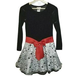 Ashley Ann Girls Dress Size 14 Black Velvet